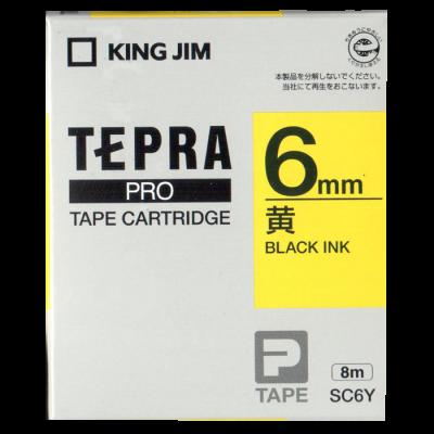Tepra SC6Y / Chữ đen nền vàng 6mm
