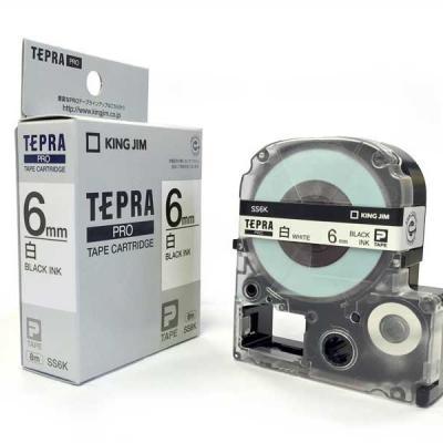 TEPRA SS6K - Chữ đen nền trắng 6mm
