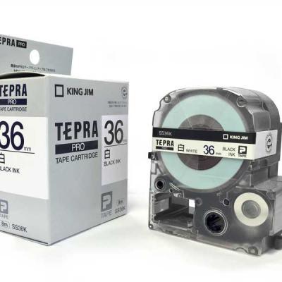 TEPRA SS36K - Chữ đen nền trắng 36mm