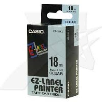 Casio XR-18X1 / Chữ đen nền trong 18mm