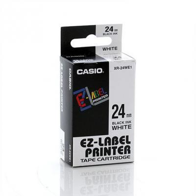 Casio XR-24WE / Chữ đen nền trắng 24mm