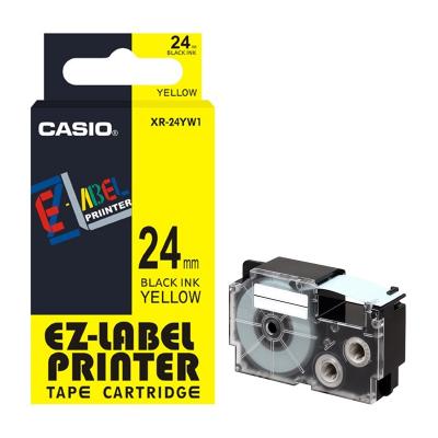 Casio XR-24YW / Chữ đen nền vàng 24mm