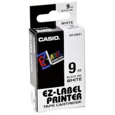 Casio XR-9WE1 / Chữ đen nền trắng 9mm