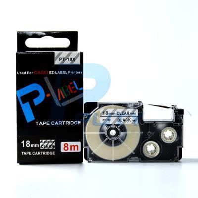 Nhãn in PT-18X / Chữ đen nền trong 18mm