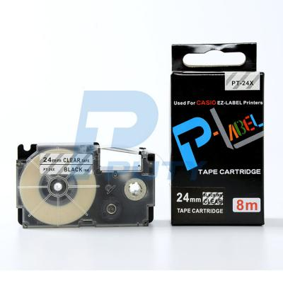 Nhãn in PT-24X / Chữ đen nền trong 24mm