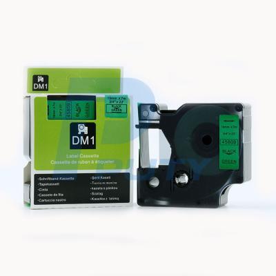DM-45809 Black on Green 19mm x 7met