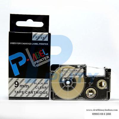Nhãn in PT-9X / Chữ đen nền trong 9mm