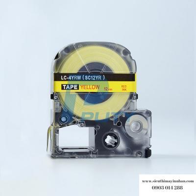 Băng nhãn LC-4YBW (SC12Y ) - 12mm cho máy EPSON - TEPRA