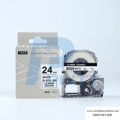 Băng nhãn LC-6WBN (SS24K ) - 24mm cho máy Epson -Tepra