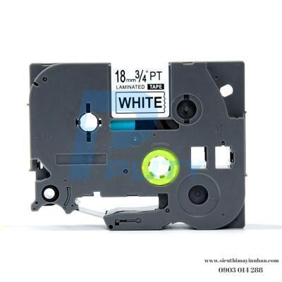 Nhãn in TZ2-241 / Chữ đen nền trắng / Black on White 18mm
