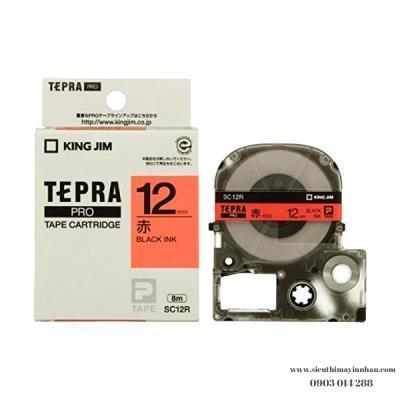 TEPRA SC12R- Chữ đen nền đỏ 12mm